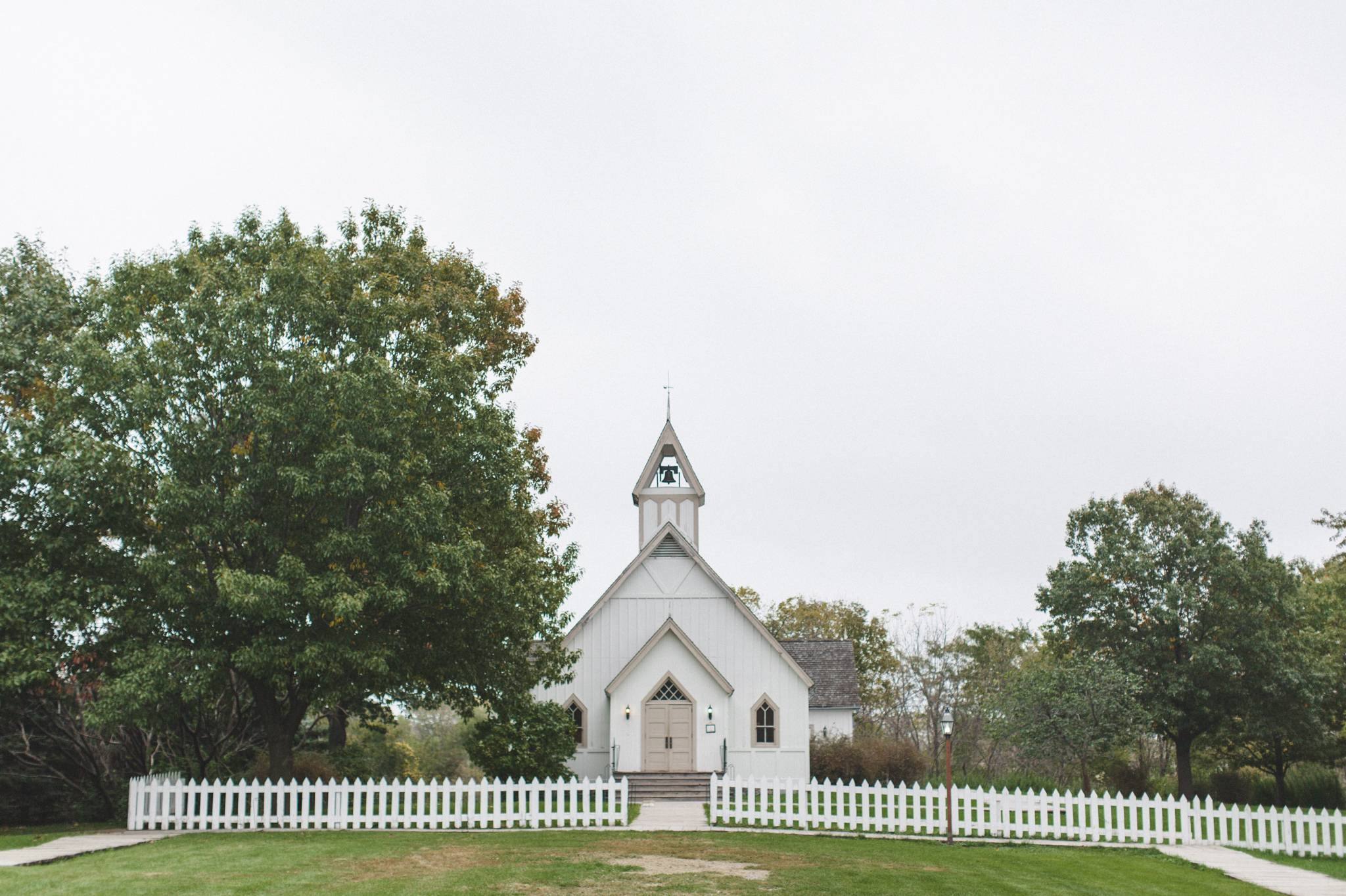 Distant Symmetrical Photo Of Living History Farms Church The Land